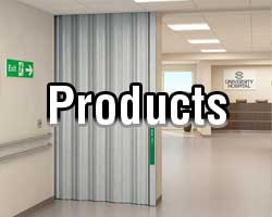 sliding fire door and other accordion door types