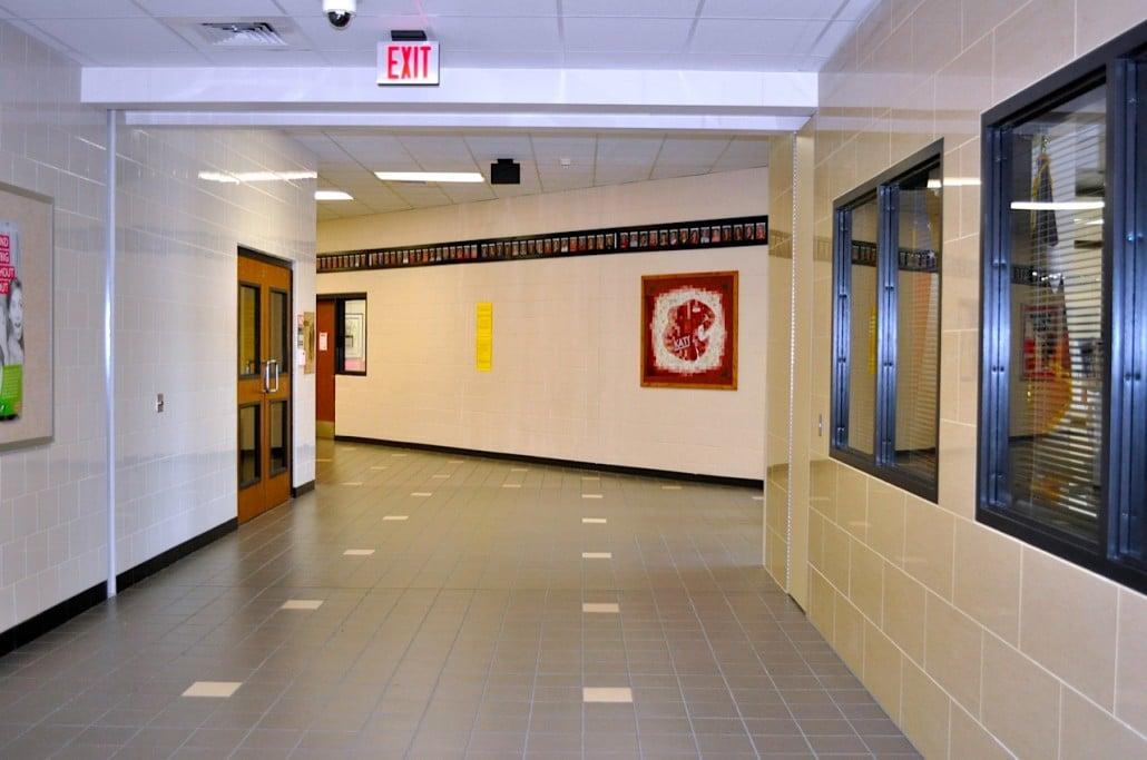 Katy High School And Open Corridor Won Door