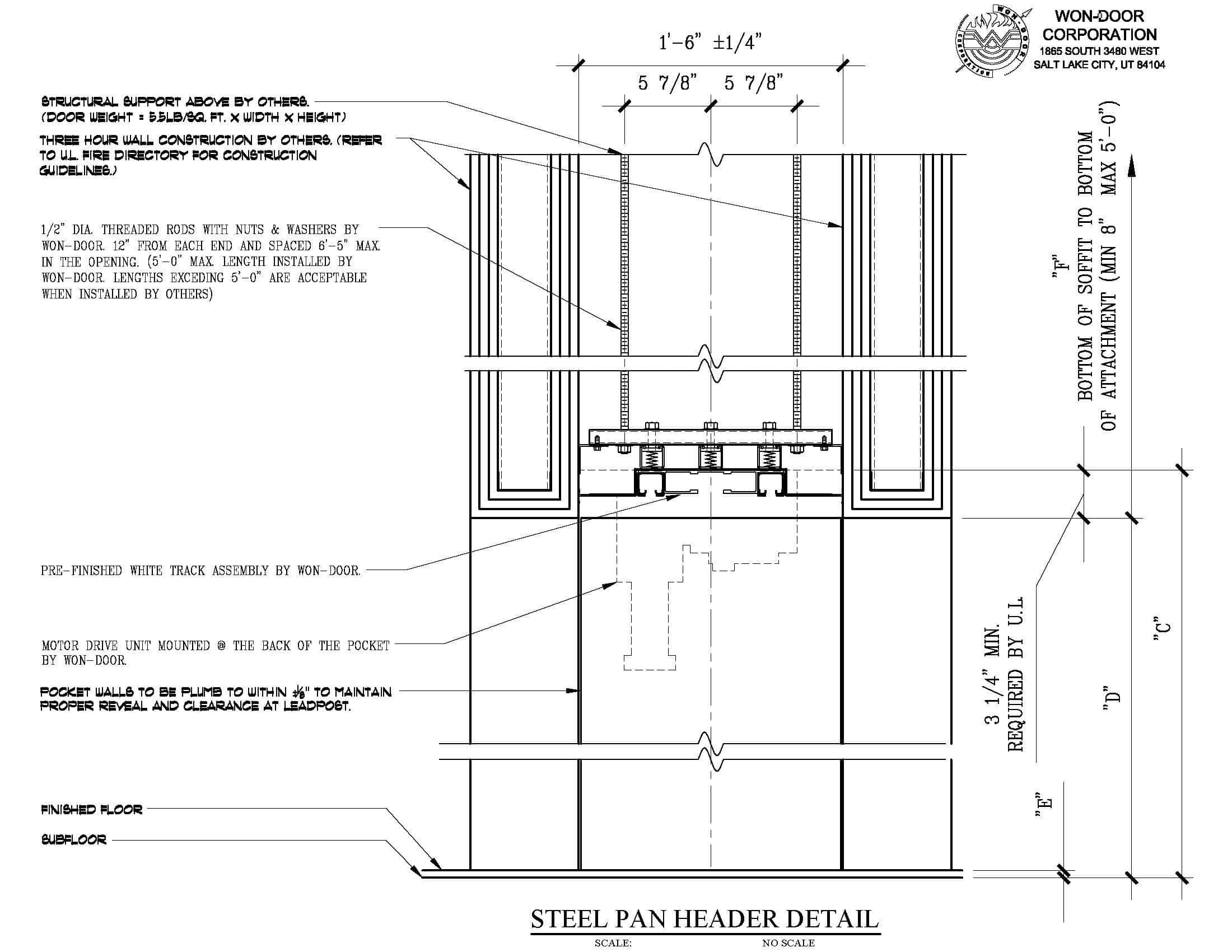 Steel Door Details : Won door fireguard™ with integrated pocket horizontal
