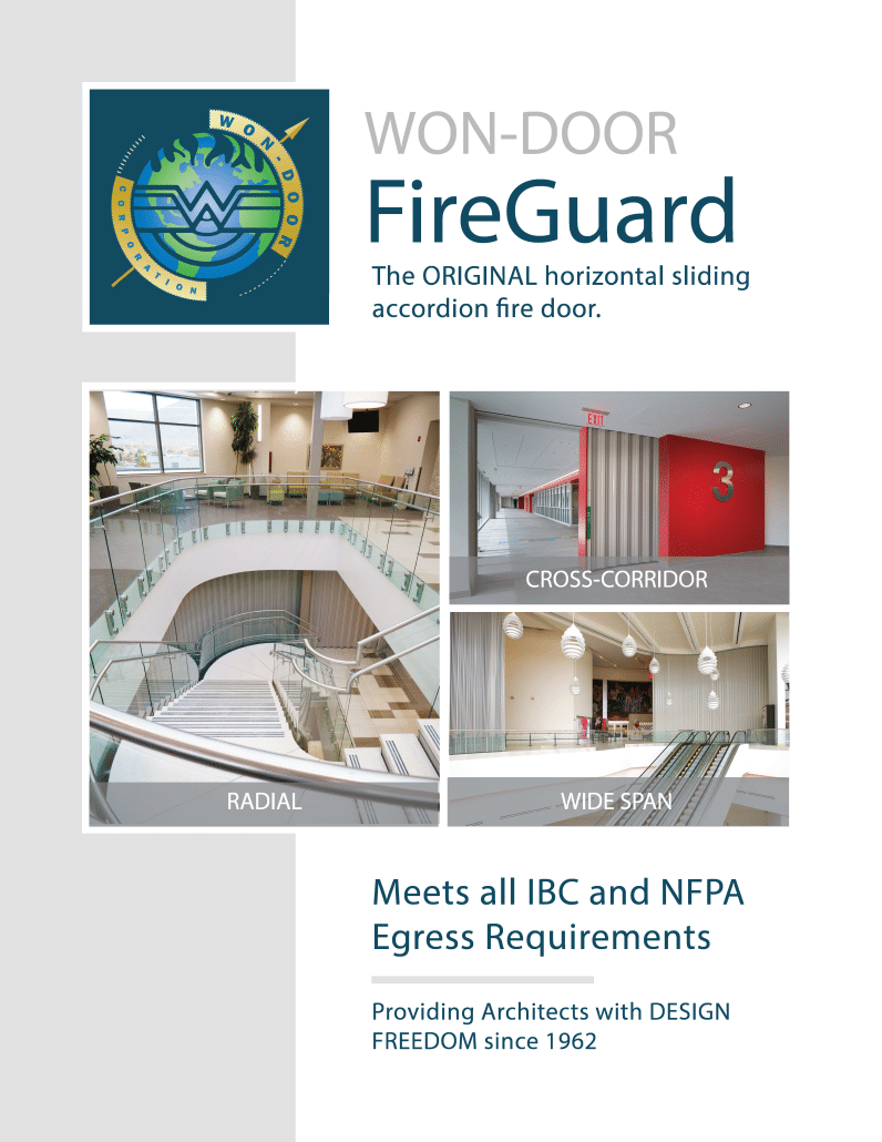 Won Door Fireguard Horizontal Sliding Fire Door
